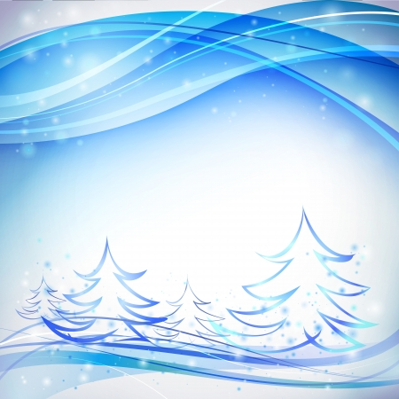 Blue background with white snowflakes   illustration  Vector