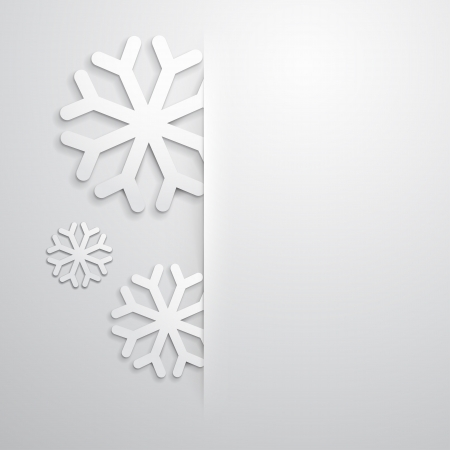 elegant christmas background: Elegant Christmas background with snowflakes and place for text