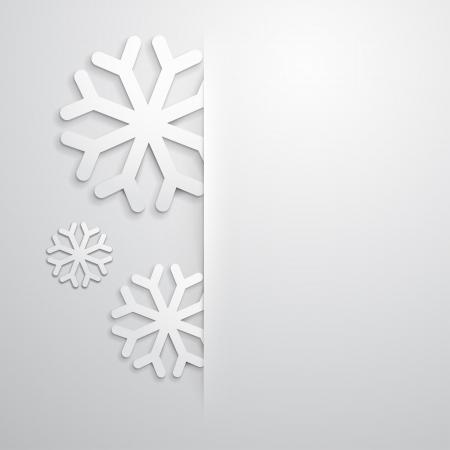 Fundo elegante do Natal com flocos de neve e lugar para o texto