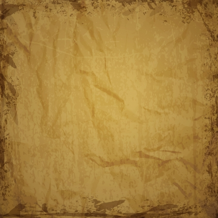 wrinkled paper: Paper texture  - brown paper sheet illustration
