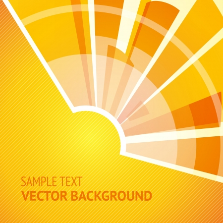 Abstract shining sun on yellow background. Stock Vector - 16557590