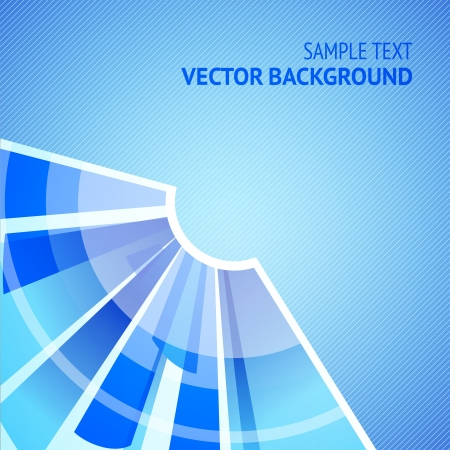 Abstract blue background - radial segments. Vector