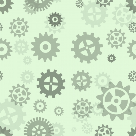 Gears seamless repeating pattern.  Vector