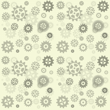 Gears seamless repeating pattern colored gray. Vector