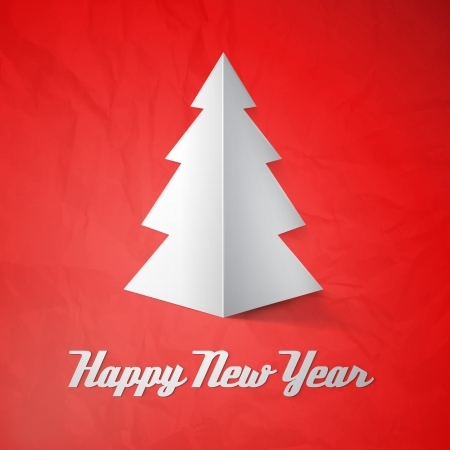 Creative Christmas tree card. Vector