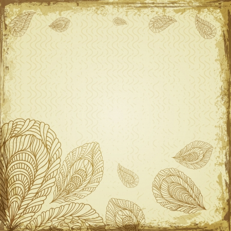Vintage floral seamless pattern with frame   Vector