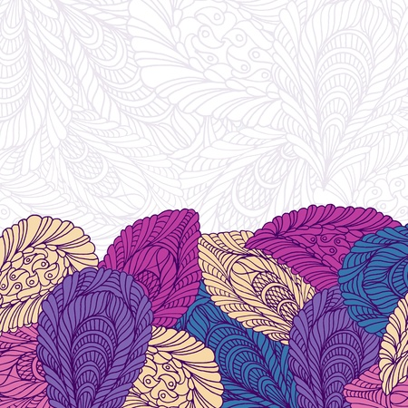 Seamless pattern of colored leaves Stock Vector - 16591290
