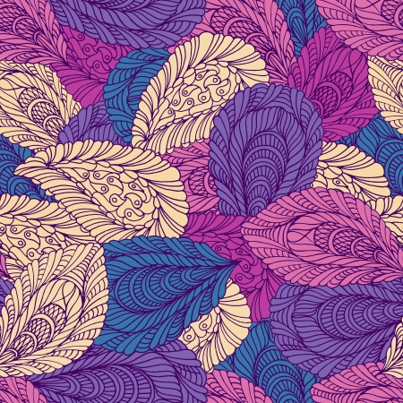 Seamless pattern of colored leaves Stock Vector - 16591379