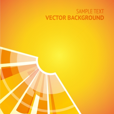 Abstract shining sun on yellow background Stock Vector - 16591377