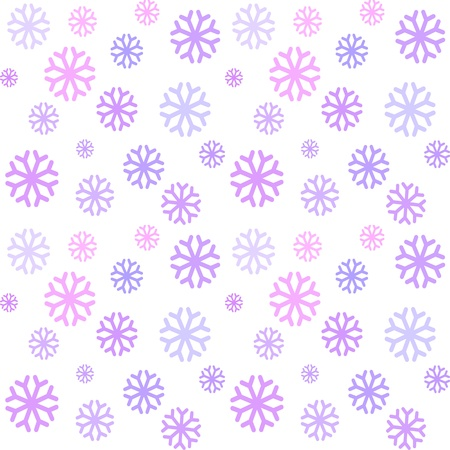 voilet: Seamless pattern with violet snowflakes Illustration