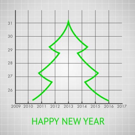 tree diagram: Diagramma ad albero di abete, illustrazione