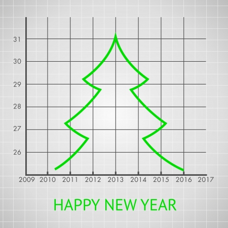Fir tree diagram, illustration  Vector