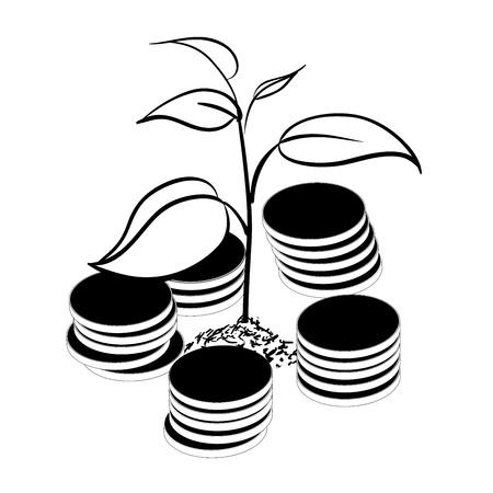 Image of money tree Stock Vector - 16810486
