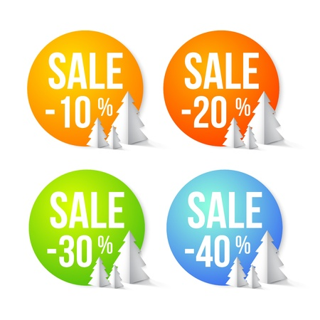 sell out: Set of Sale percents Illustration