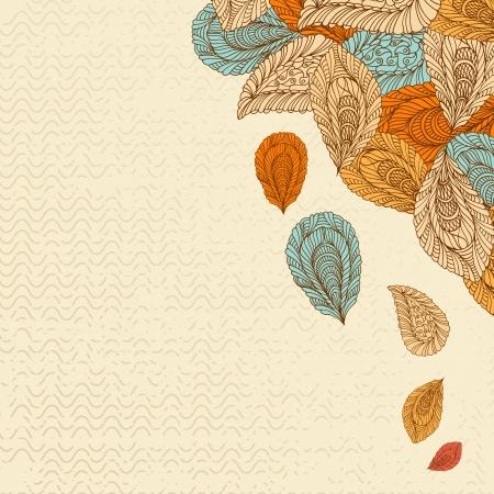 Vintage floral corner pattern Vector