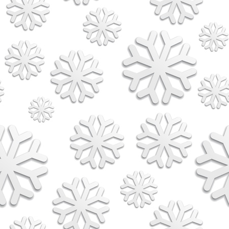 patterning: Seamless pattern with white snowflakes