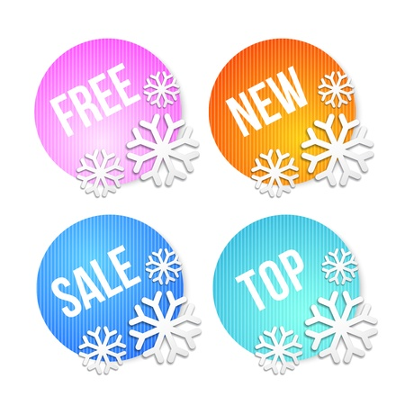 Badges and price tags, sale tags for your design photo
