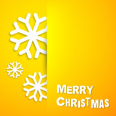 merrychristmas: Elegant Christmas card over orange  Vector illustration