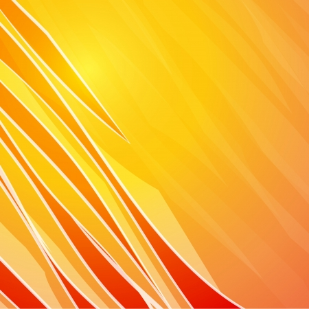 abstract backround: Orange banner, ready for your message  illustration