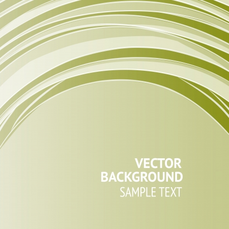 Green banner, ready for your message  illustration  Vector
