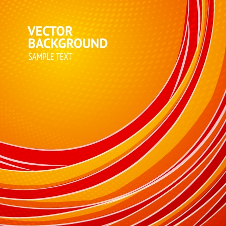 abstract backround: Orange vertical lines abstraction with dots and text field  illustration