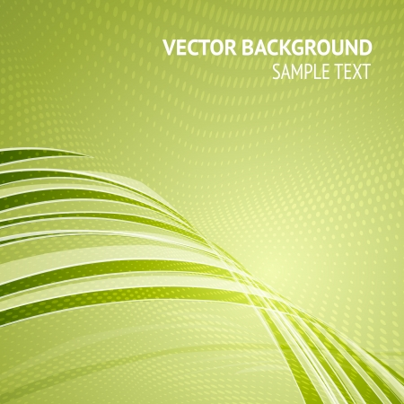 abstract backround: Green background, with dots and lines  illustration  Illustration