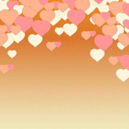 Hearts background  Illustration Stock Vector - 17037841