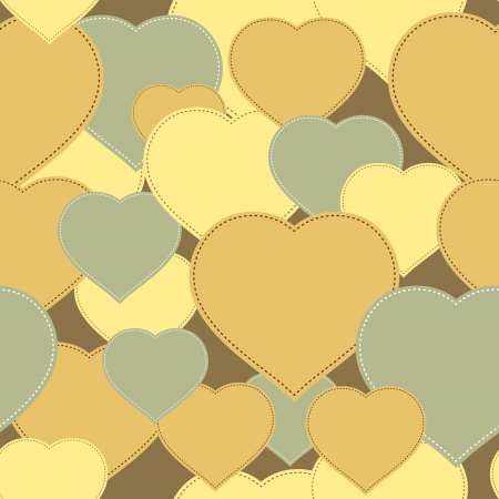 Yellow hearts background   Illustration  Stock Vector - 17037842