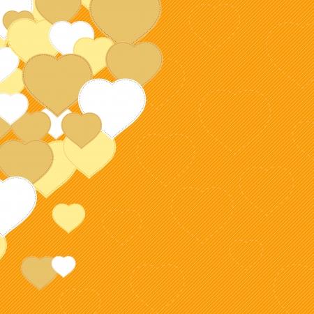 Yellow hearts background  Illustration Stock Vector - 17037844