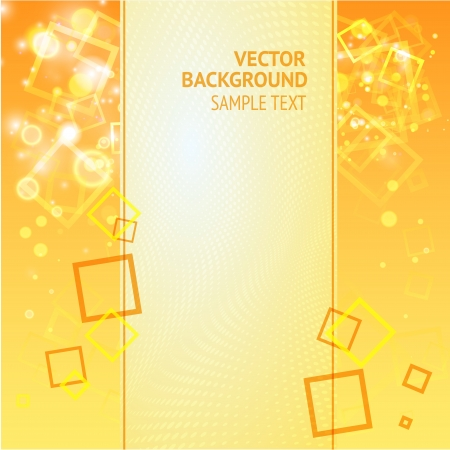 Background with squares and lights with text field  Vector Illustration, eps10, contains transparencies Stock Vector - 17121759