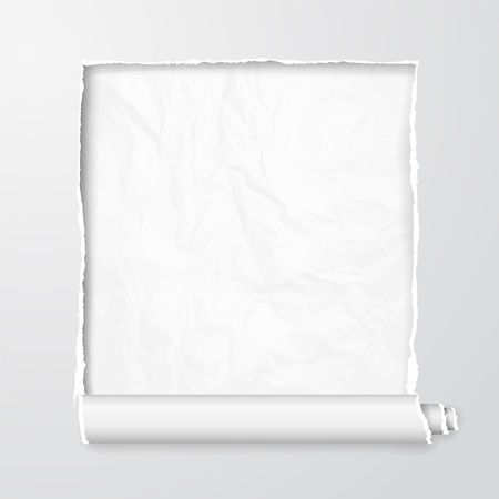 message vector: Torn paper with space for your message  Vector Illustration, contains transparencies Illustration