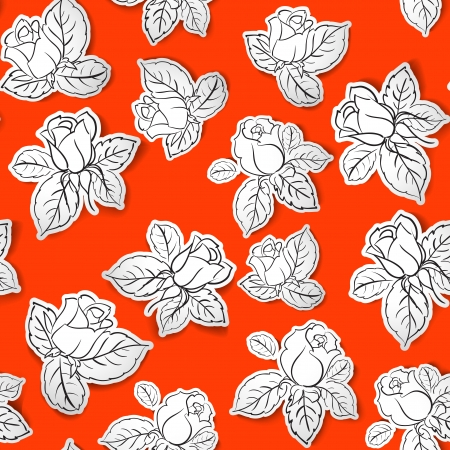 Little Rose seamless background   Vector Illustration  Vector