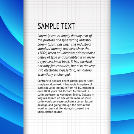 blueray: Text field over blue banner for your text  Vector illustration