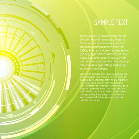 Abstract green background with place for your text  Vector illustration  Stock Vector - 17169318