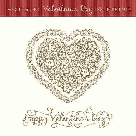 Happy valentine s day heart  Vector illustration  Stock Vector - 17169321