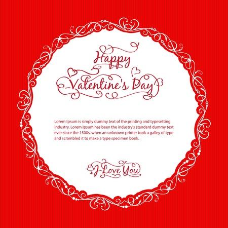 Valentine s day vintage card  Vector illustration Stock Vector - 17169289