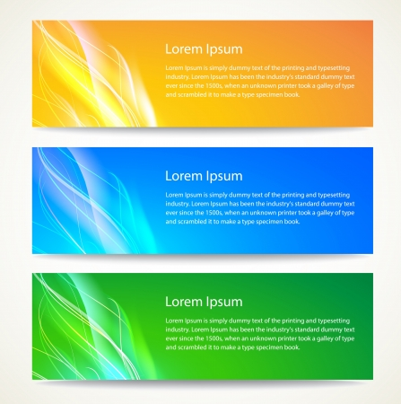 Abstract smooth lines banners set  Vector background Stock Vector - 17169295