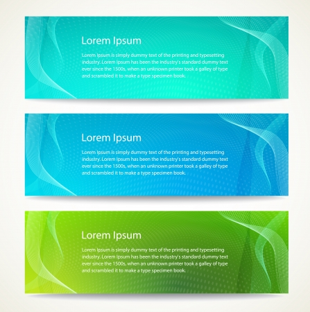 Colorful banner set  Vector illustration  Vector
