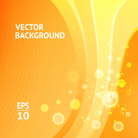 transparencies: Abstract orange background, futuristic wavy  Vector Illustration, contains transparencies