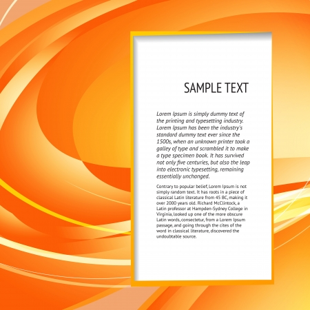 Abstract banner for your text   illustration  Stock Vector - 17169277