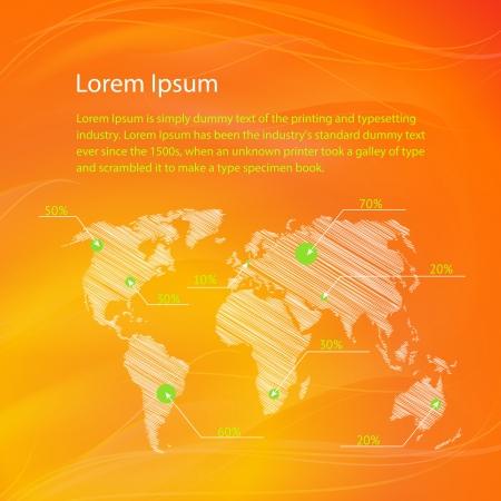 world location: Checkin on The World Map Illustration