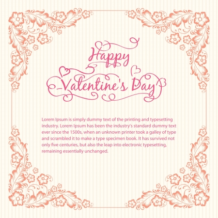 Valentine s day vintage card Vector