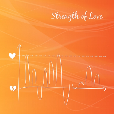 Rising love diagram Stock Vector - 17314345