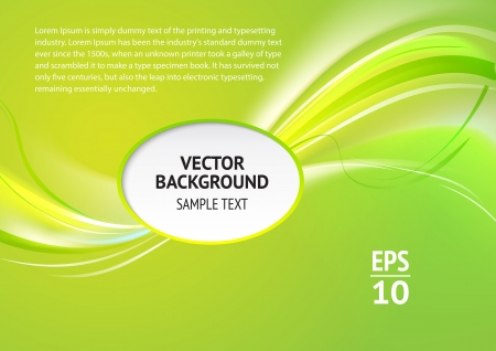 Abstract green cover with smooth lines Vector