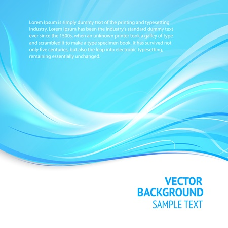 Abstract blue cover with smooth lines