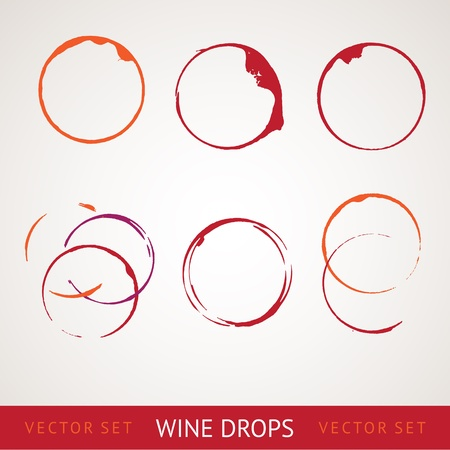 Red wine stain over gray background Stock Vector - 17314376