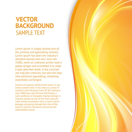 yellow background: Abstract cover with smooth lines