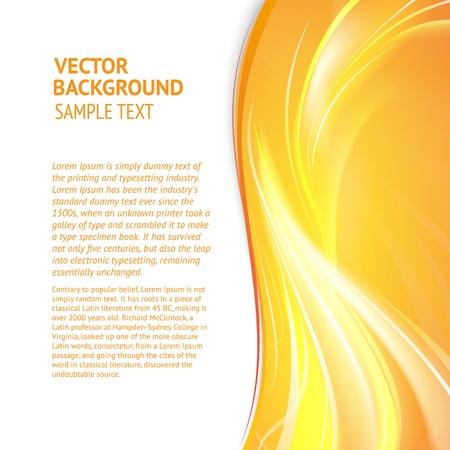 amarillo: Cubierta abstracto con líneas suaves