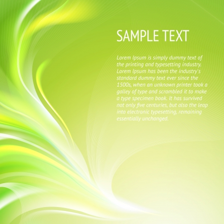 Abstract smooth green lines   background, contains transparencies Stock Vector - 17479807