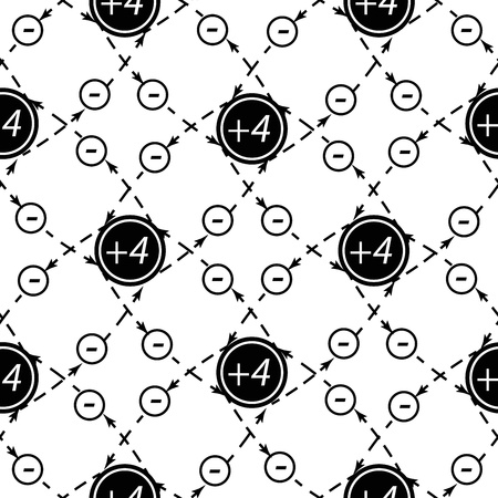 Seamless pattern of atom   background, contains transparencies  Vector